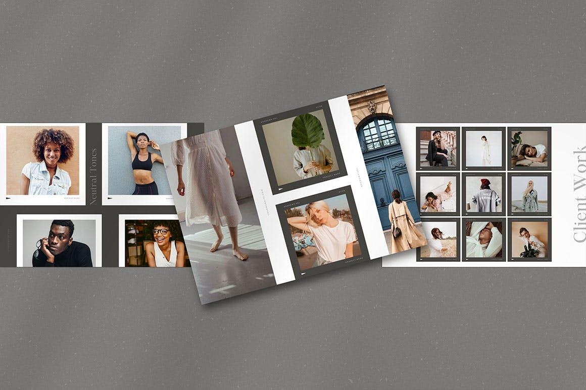 时尚高端简约多用途的高品质品牌手册画册宣传册杂志房地产楼书设计模板-AI,EPS插图(7)