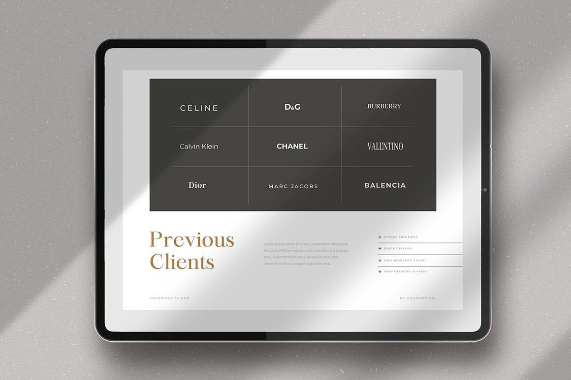 时尚高端简约多用途的高品质品牌手册画册宣传册杂志房地产楼书设计模板-AI,EPS插图(8)