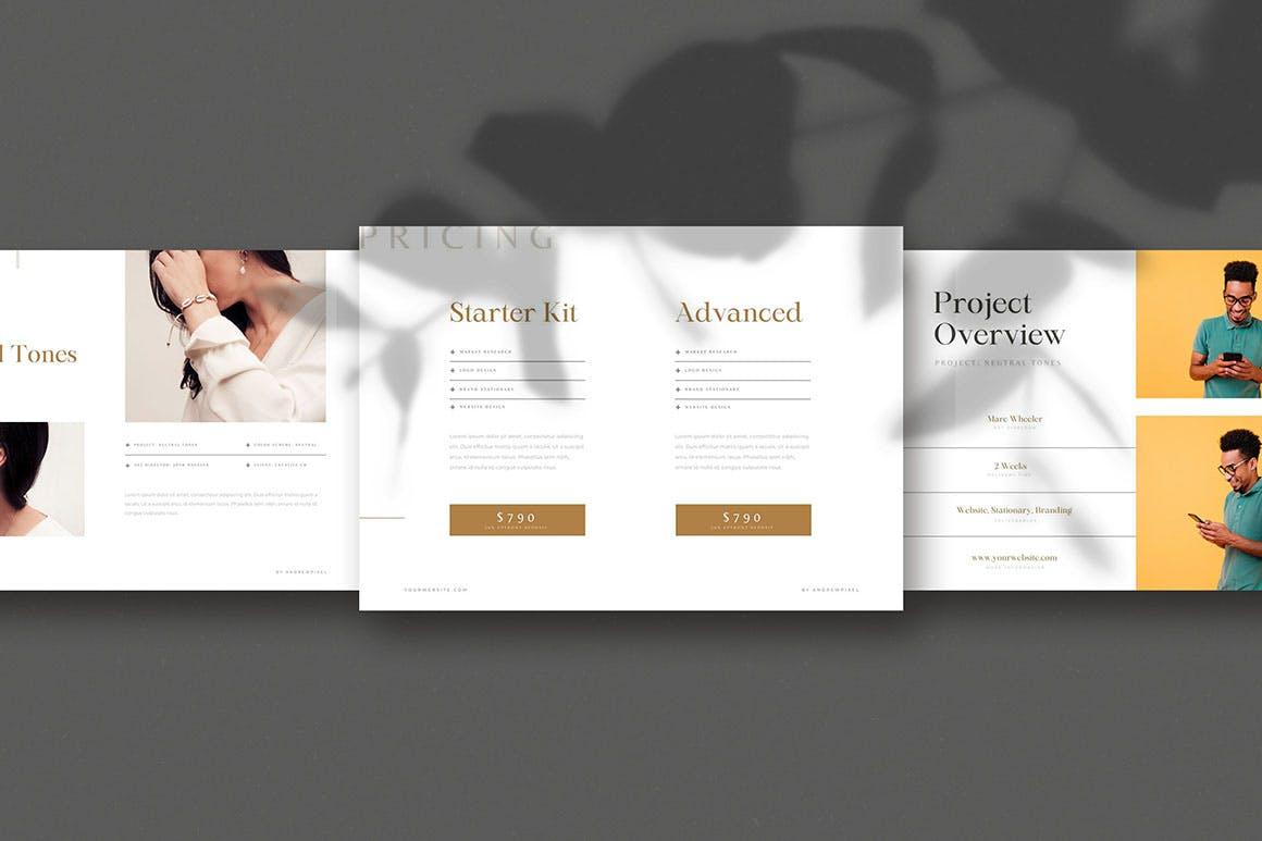 时尚高端简约多用途的高品质品牌手册画册宣传册杂志房地产楼书设计模板-AI,EPS插图(10)