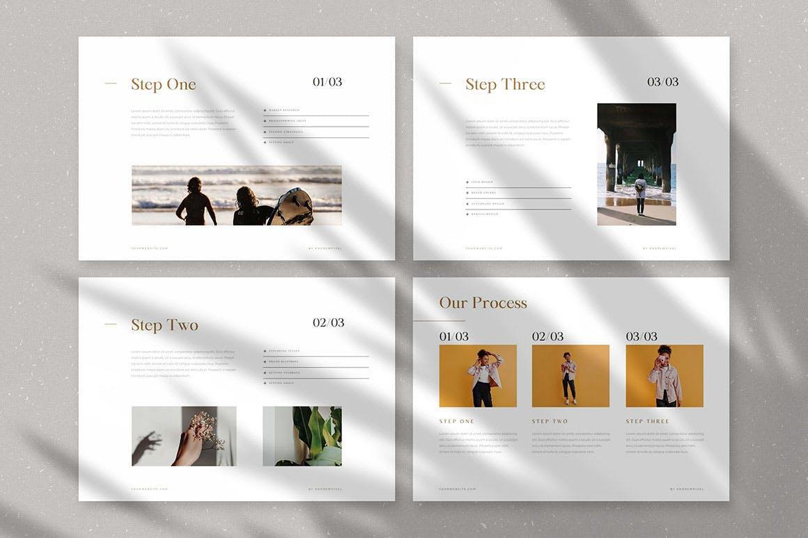 时尚高端简约多用途的高品质品牌手册画册宣传册杂志房地产楼书设计模板-AI,EPS插图(9)