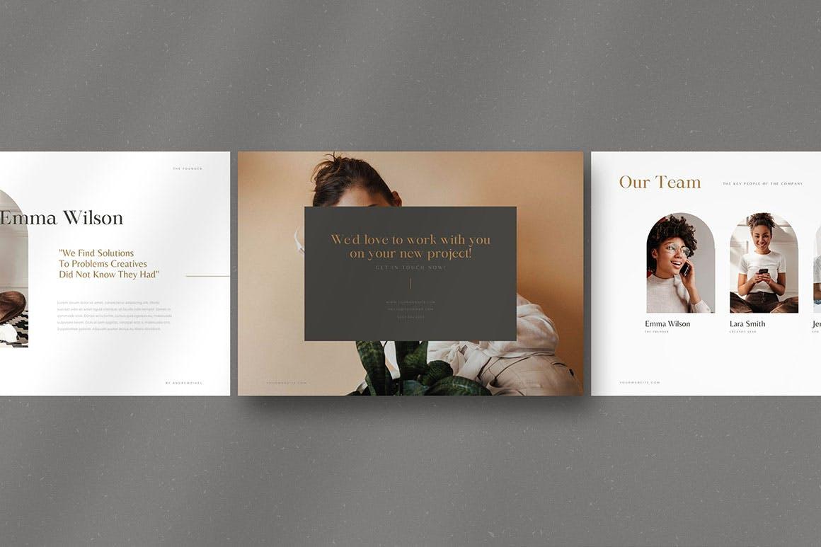 时尚高端简约多用途的高品质品牌手册画册宣传册杂志房地产楼书设计模板-AI,EPS插图(11)