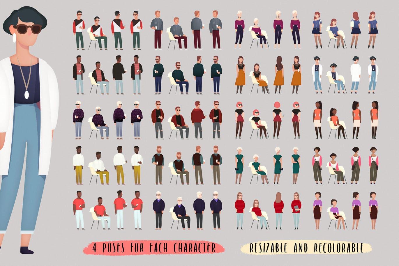 多种类型的矢量人物插画大集合插图(2)
