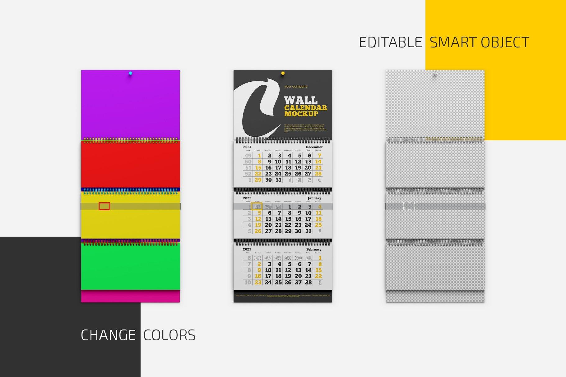 阶梯式活页挂历设计样机集插图(2)