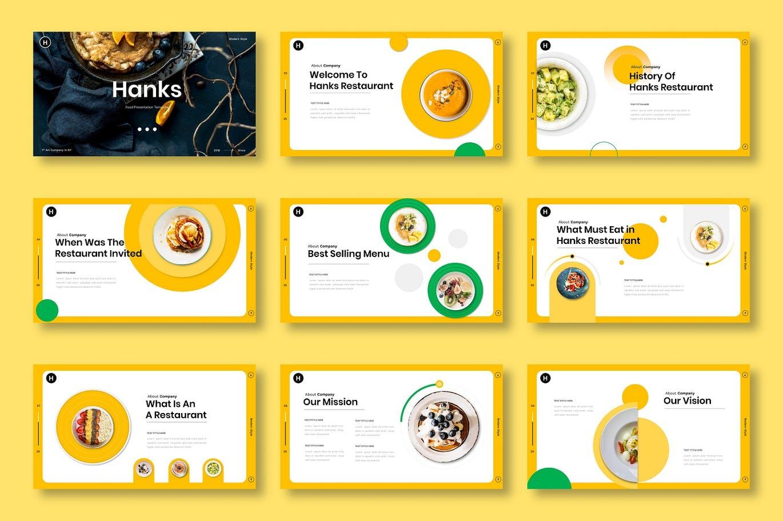 时尚清新可爱诱人风格的食物餐厅powerpoint幻灯片演示模板(pptx)插图(1)