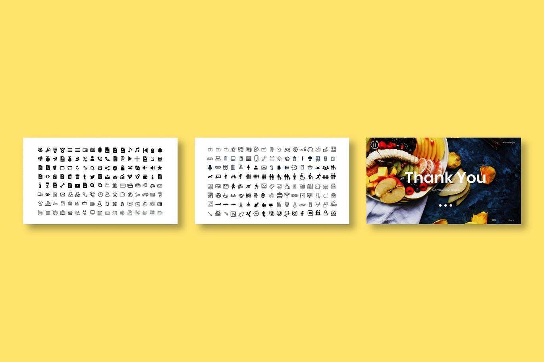 时尚清新可爱诱人风格的食物餐厅powerpoint幻灯片演示模板(pptx)插图(5)