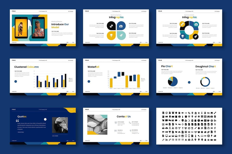 时尚高端绚丽风格的创意powerpoint幻灯片演示模板(pptx)插图(4)