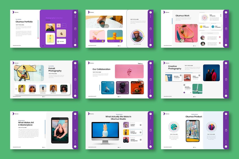 时尚清新高端多用途的创意业务powerpoint幻灯片演示模板(pptx)插图(3)