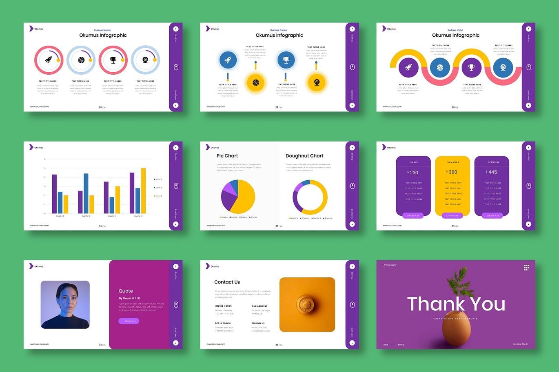 时尚清新高端多用途的创意业务powerpoint幻灯片演示模板(pptx)插图(4)