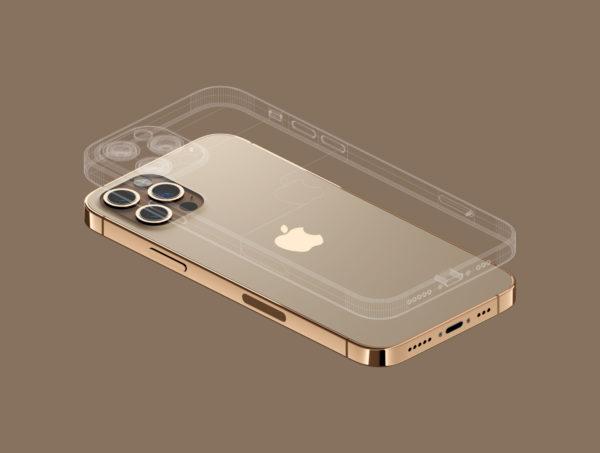 iPhone 12 PRO 金色版3D模型下载[blend,OBJ,FBX]插图(3)