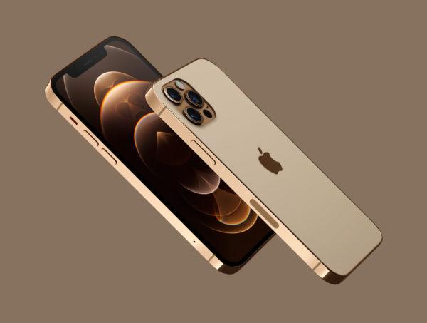 iPhone 12 PRO 金色版3D模型下载[blend,OBJ,FBX]插图(2)