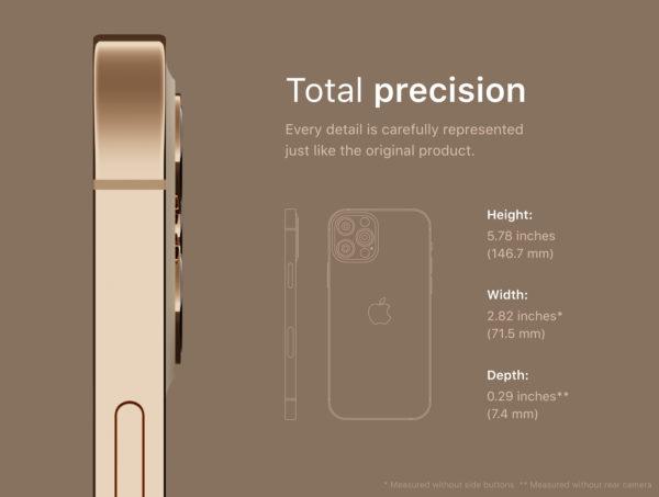 iPhone 12 PRO 金色版3D模型下载[blend,OBJ,FBX]插图1
