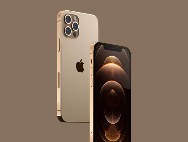 iPhone 12 PRO 金色版3D模型下载[blend,OBJ,FBX]插图6