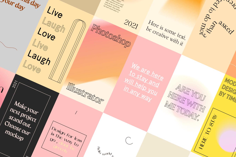 时尚高端清新简约优雅多用途的Instagram社交媒体banner海报设计模板集合-AI,PSD插图3