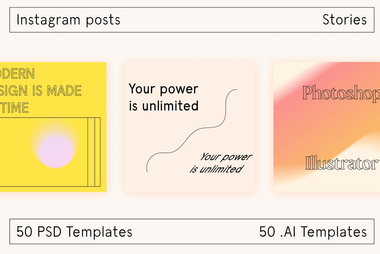 时尚高端清新简约优雅多用途的Instagram社交媒体banner海报设计模板集合-AI,PSD插图9