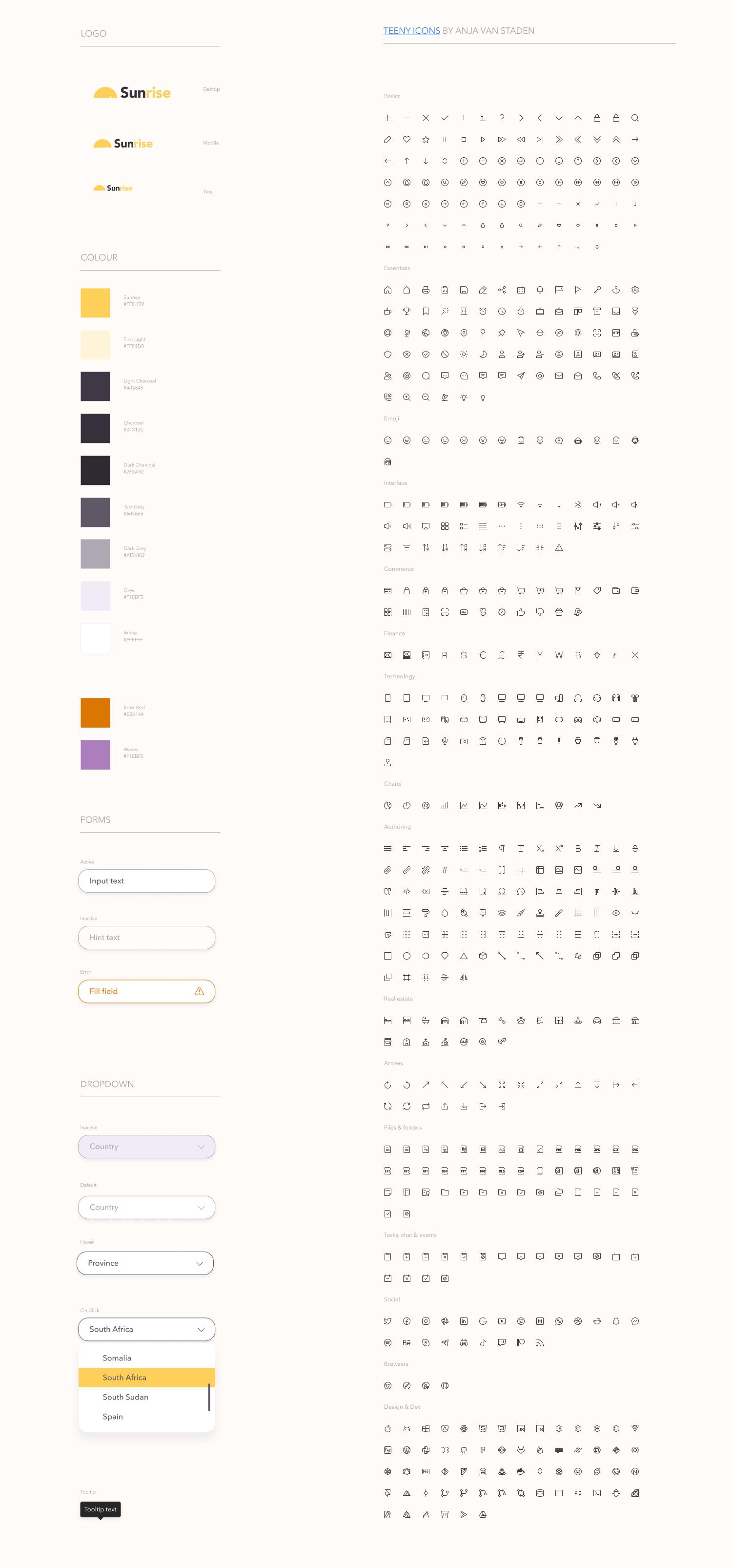 设计规范系统网页UI模板插图