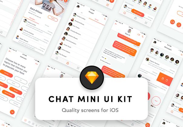 色彩明快的社交类UI KIT打包下载[sketch]插图