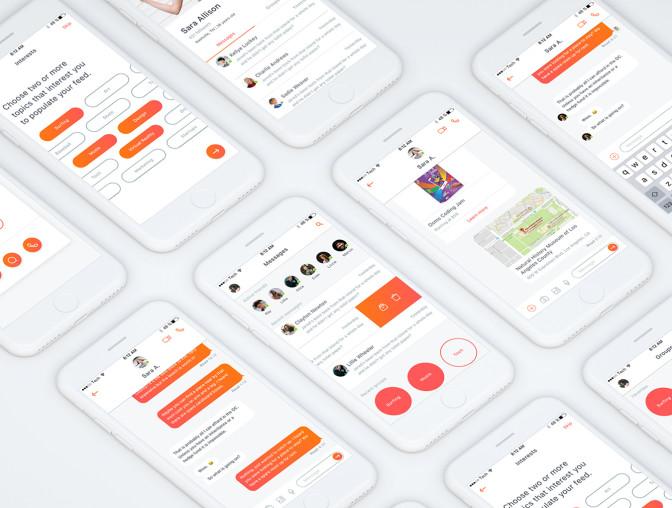 色彩明快的社交类UI KIT打包下载[sketch]插图3