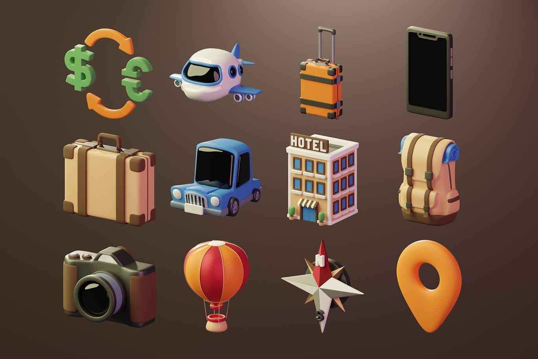 时尚高端3D立体C4D渲染风格图标icon大集合(PNG格式)插图2
