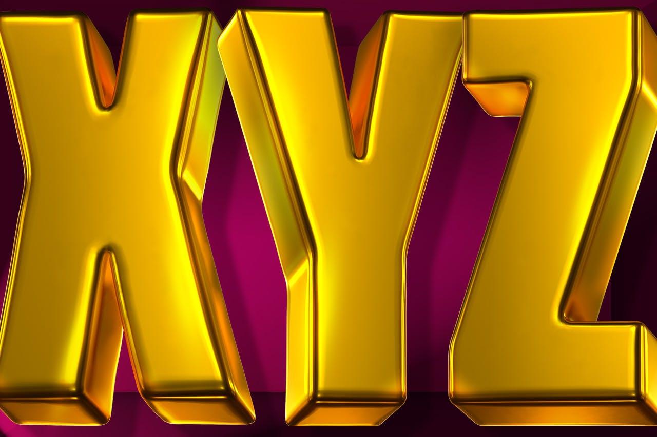 时尚高端专业的高品质土豪金色3D立体字字体设计插图1