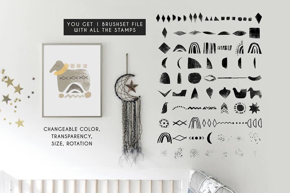水彩专业艺术Procreate笔刷套装 (brushset)插图3