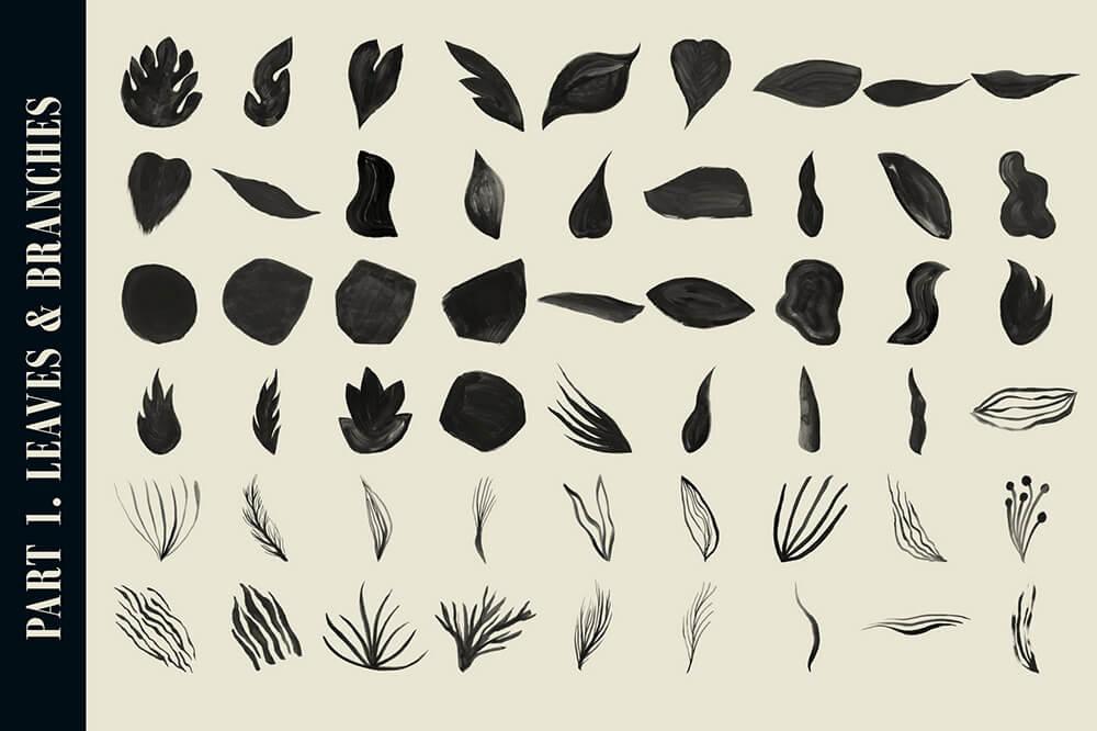 水彩专业艺术Procreate笔刷套装 (brushset)插图16