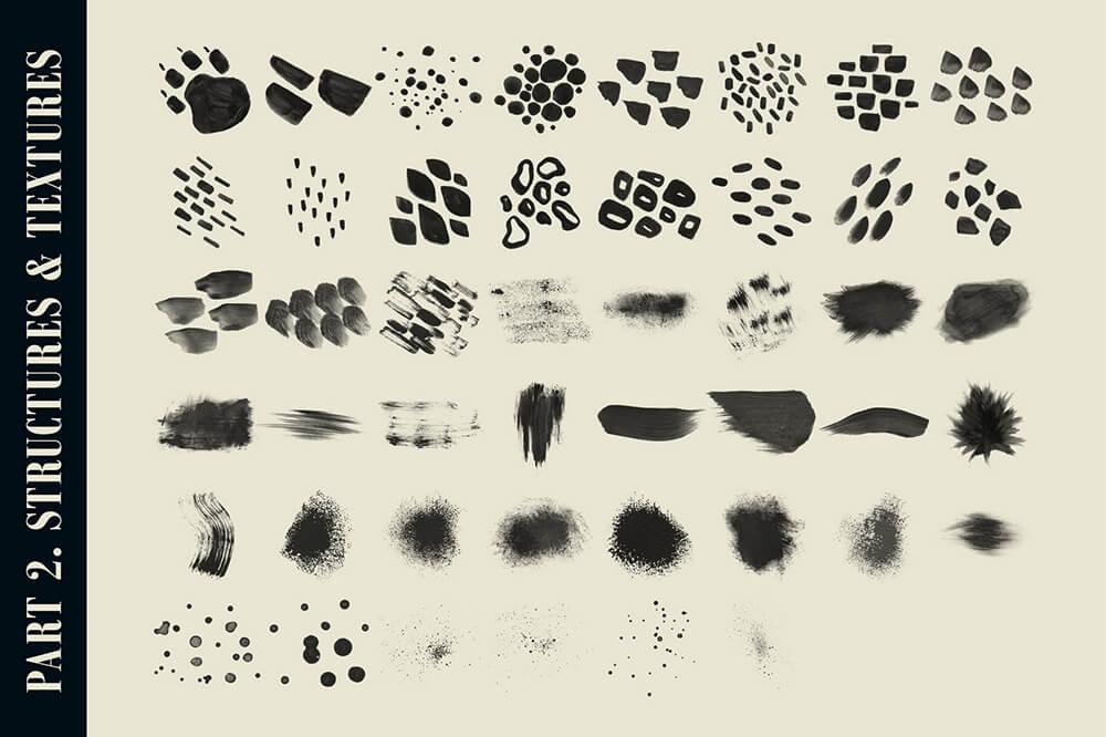 水彩专业艺术Procreate笔刷套装 (brushset)插图15