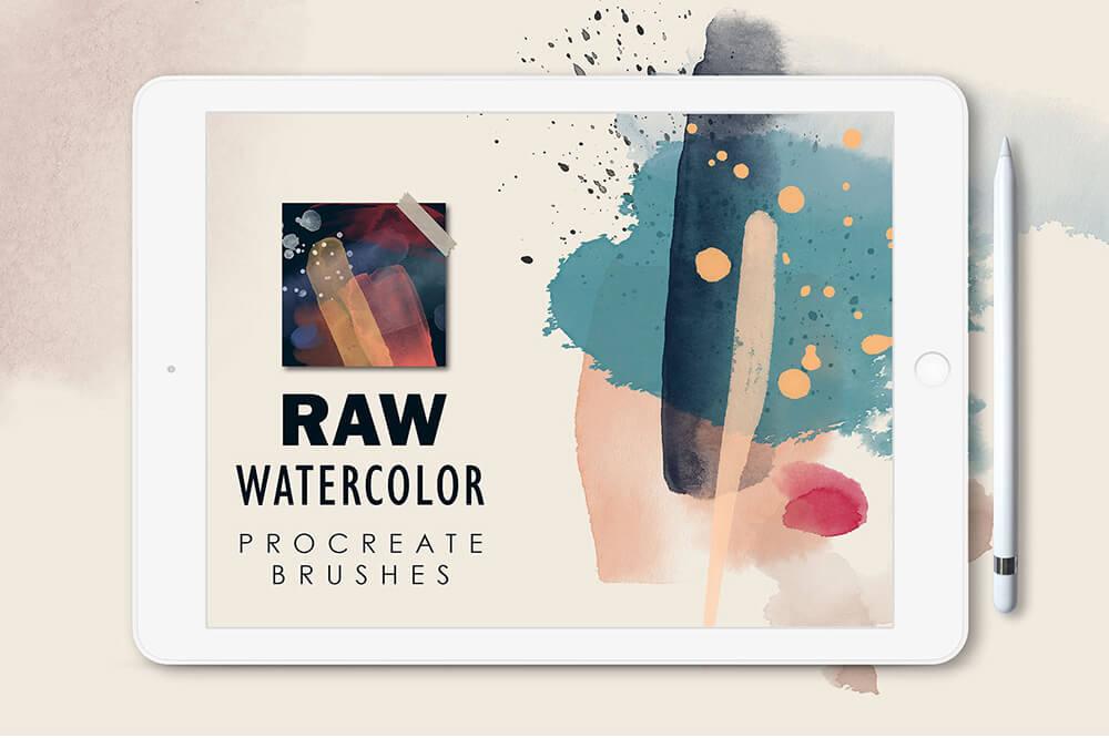 水彩专业艺术Procreate笔刷套装 (brushset)插图22