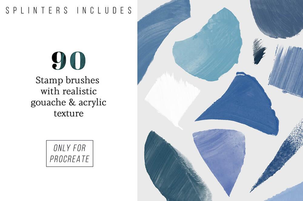 水彩专业艺术Procreate笔刷套装 (brushset)插图29