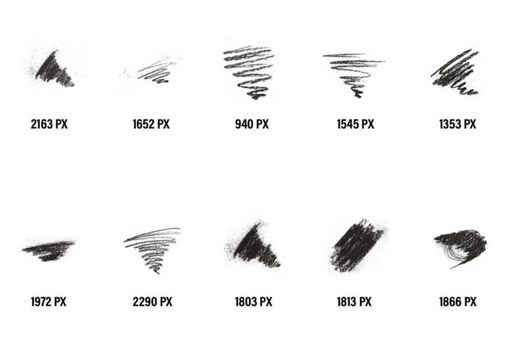 40个木炭经典素描ps手绘笔刷 (abr)插图4