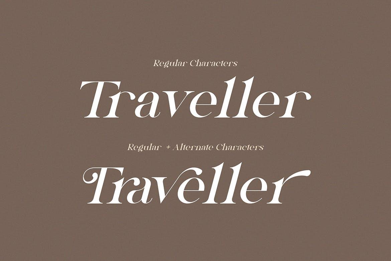 高端时尚优雅多用途的Novembra Serif 英文字体插图3