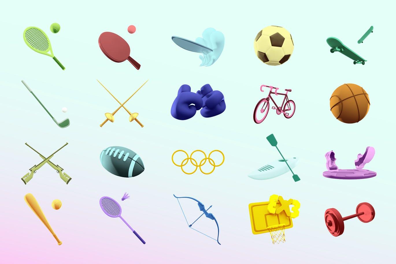时尚高端3D立体运动奖牌图标icon大集合插图5