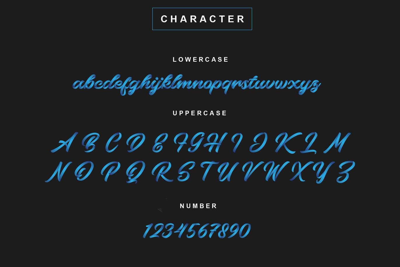 字体   英文无衬线连笔快销品运动饮料时尚品牌适用文字脚本插图5