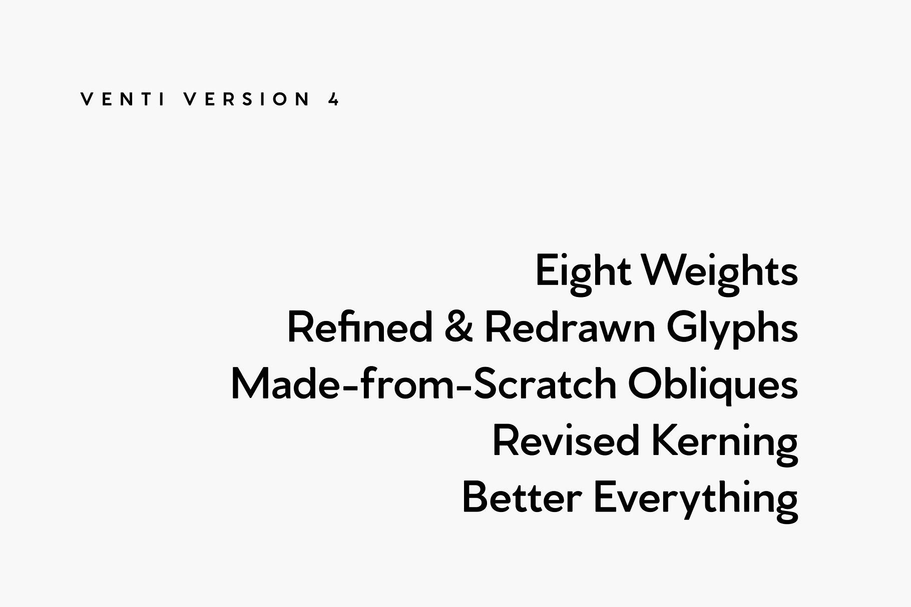 无衬线时尚字体 Venti CF sans serif font family插图7