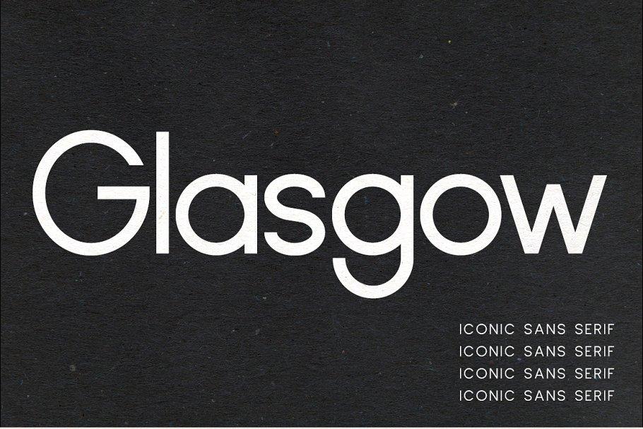 时尚的字体 Glasgow   Iconic Sans Serif插图4