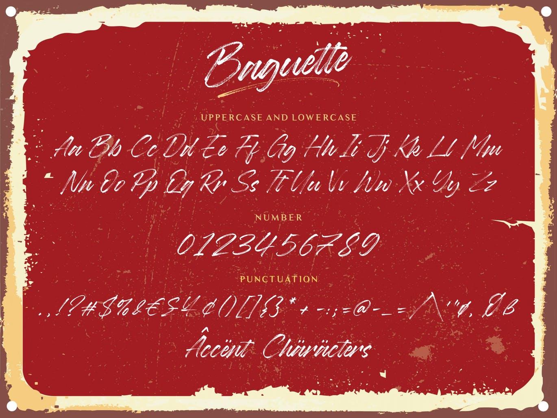 时尚高端手绘手写书法字体英文字体-Baguette YH插图4
