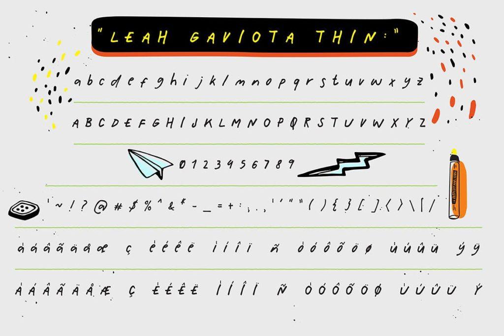 Fonts   多种多样混合手写涂鸦多重网络自然笔触手绘重影字形文字衬线英文字体下载插图2