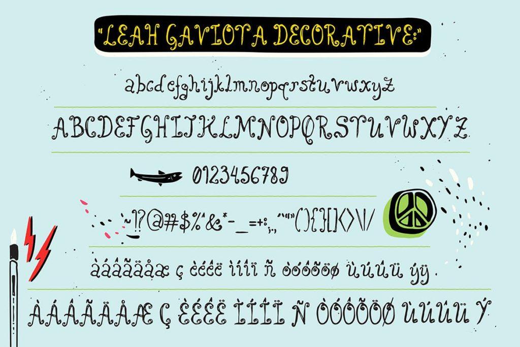 Fonts   多种多样混合手写涂鸦多重网络自然笔触手绘重影字形文字衬线英文字体下载插图7