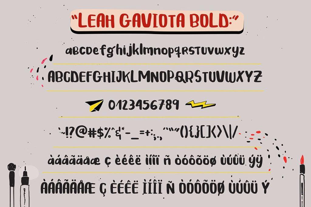 Fonts   多种多样混合手写涂鸦多重网络自然笔触手绘重影字形文字衬线英文字体下载插图6