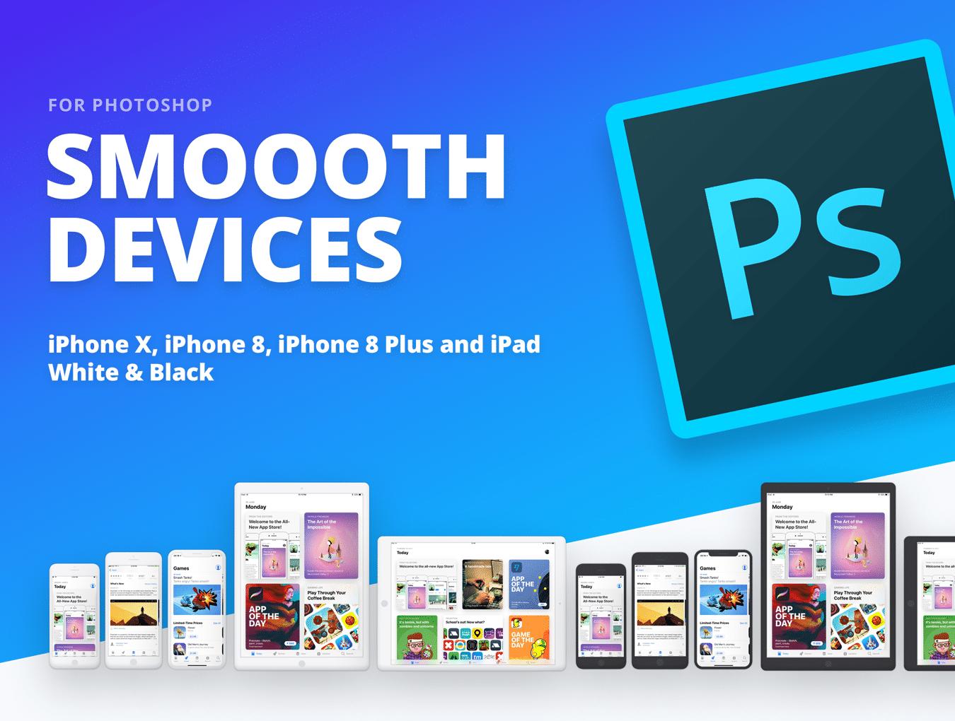 设计师必备的完美的UI设计作品展示模板套装[PSD,for iPhone X,iPhone 8,iPad等]插图
